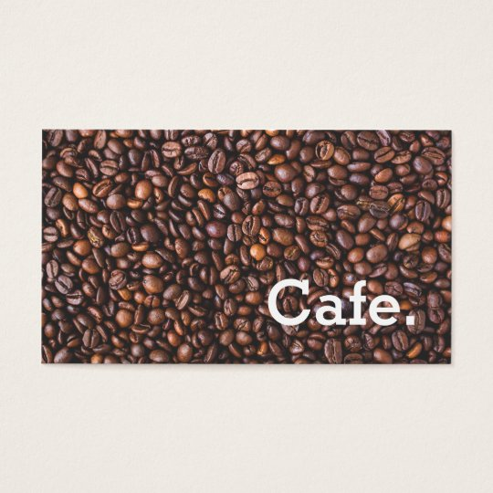 Modern brown coffee beans loyalty punch-card cafe business