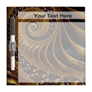 Modern brown fractal spiral pattern dry erase board