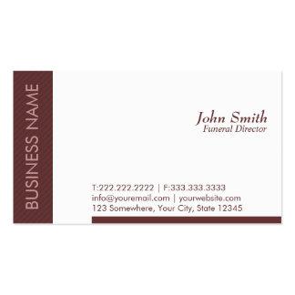 Modern Brown Funeral Business Card