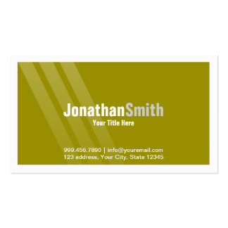 Modern Brown Green With Stripes and Frame Pack Of Standard Business Cards