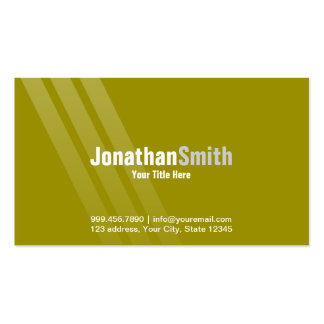 Modern Brown Green With Stripes Pack Of Standard Business Cards