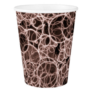 Modern Brown Pattern Paper Cup, 9 oz