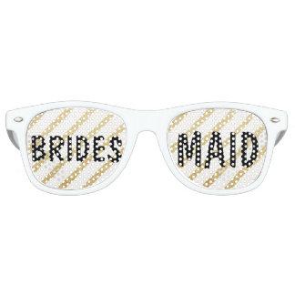 Modern brushstrokes gold stripe wedding Bridesmaid