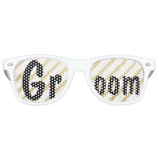 Modern brushstrokes gold stripes wedding Groom