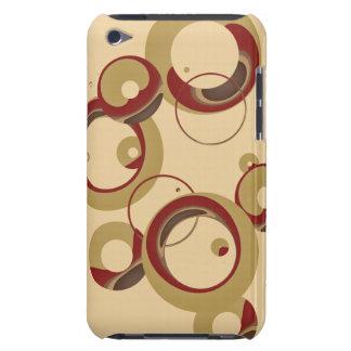 Modern Bubbles Beige  iPod Case-Mate Cases