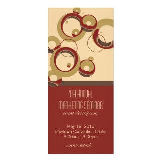 Modern Bubbles Event Schedule Rack Cards - Beige