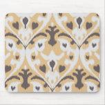 Modern buff beige brown ikat tribal pattern