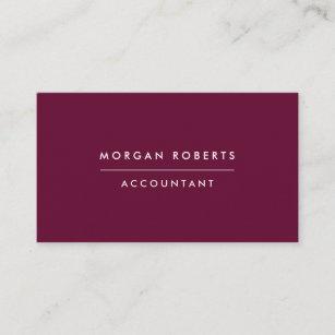modern burgundy accountant lawyer or professional business card - Accountant Business Card