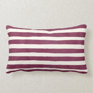 Modern Burgundy Stripes Autumn Home Throw Pillow