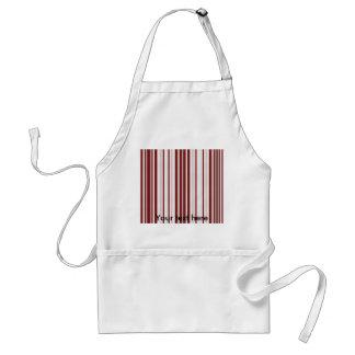 Modern burgundy white diamond patterned stripes standard apron