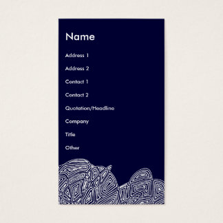 Modern Business Card  (Abstract Front and Back)