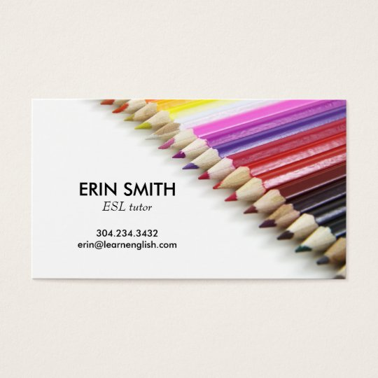 Modern Business Card No. 66 | Pencil Crayons