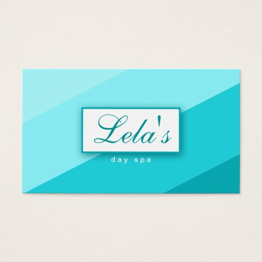 Modern Business Card Salon Spa Stripes TB