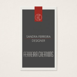 Modern business card template Red and Grey