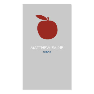 Modern Business Card | Tutor, Teacher, Organic.