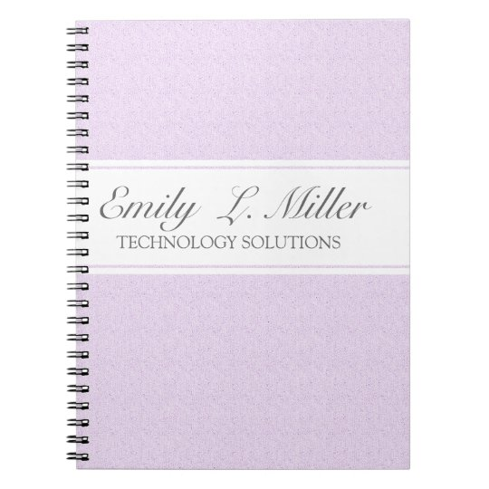 Modern Business Design Lavender Chic Executive Notebook