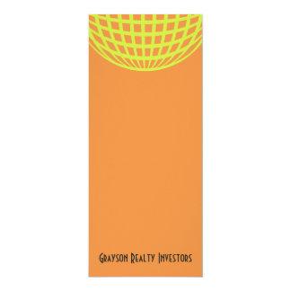 Modern business yellow orange circle design 10 cm x 24 cm invitation card