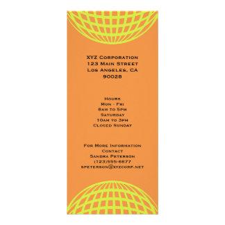 Modern business yellow orange circle design customized rack card