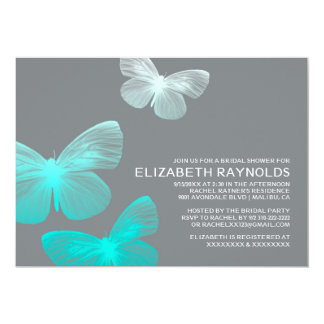 Modern Butterfly Bridal Shower Invitations