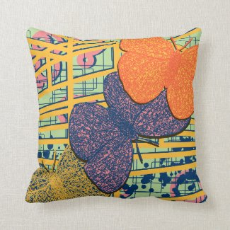 Modern Butterfly Colourful Abstract Design Cushion