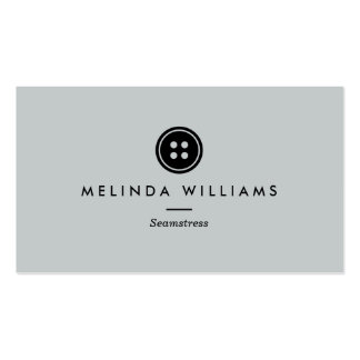 Modern Button Logo Seamstress, Sewing, Tailor II Business Card