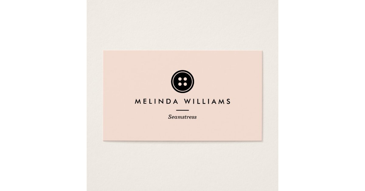 Modern Button Logo Seamstress, Sewing, Tailor III Business Card ...