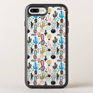 Modern Cactus Geometric Pattern OtterBox Symmetry iPhone 8 Plus/7 Plus Case