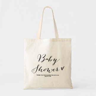 Modern Calligraphy Baby Shower Party Favor Bag