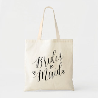 Modern Calligraphy Heart Wedding Party Bridesmaid