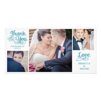 Modern Calligraphy Wedding Thank You Cards Green