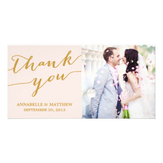 MODERN CALLIGRAPHY | WEDDING THANK YOU PHOTO CARD