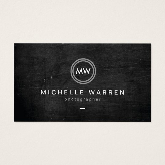 Modern Camera Lens Initials Logo II Photographer Business
