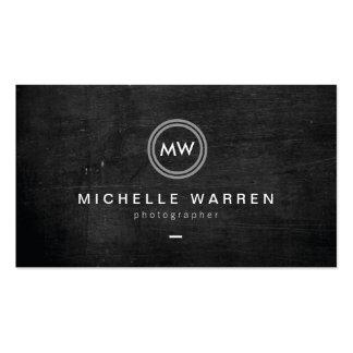 Modern Camera Lens Initials Logo II Photographer Pack Of Standard Business Cards