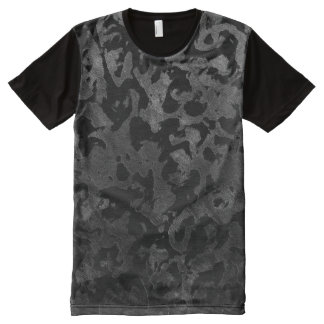 Modern Camo -Black and Dark Grey- camouflage All-Over Print T-Shirt