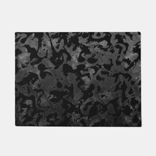Modern Camo -Black and Dark Grey- camouflage Doormat