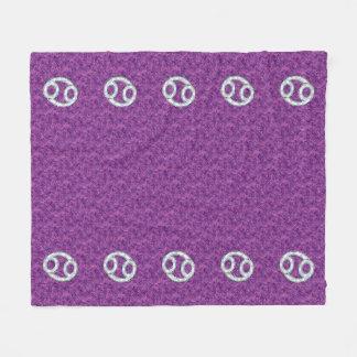 Modern Cancer Zodiac Sign Pink Digital Camouflage Fleece Blanket