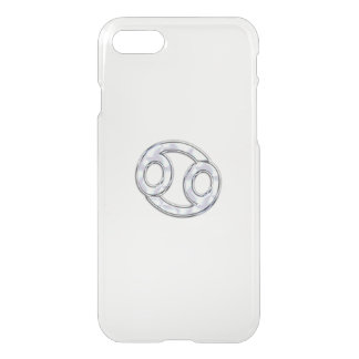 Modern Cancer Zodiac Symbol on Pink Camo iPhone 7 Case