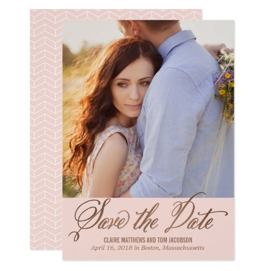 Modern Caption EDITABLE COLOR Save The Date Card