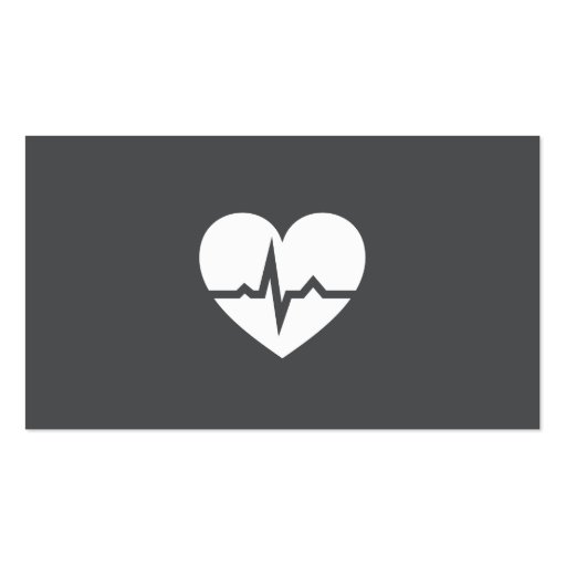 Modern cardiologist cardiology heart elegant gray business card templates
