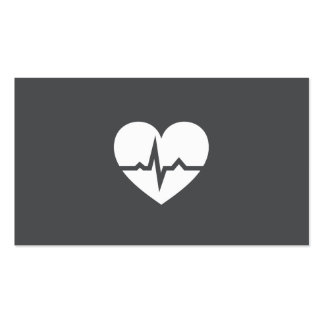 Modern cardiologist cardiology heart elegant gray pack of standard business cards