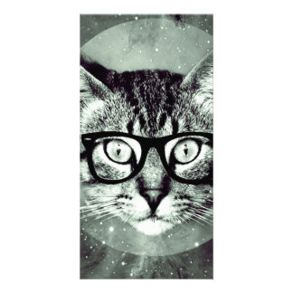 Modern Cat Photo Greeting Card