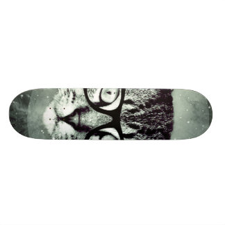 Modern Cat Custom Skateboard