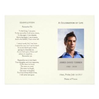 Modern Celebration of Life Funeral Program Flyer