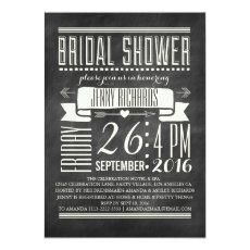 Modern Chalkboard Bridal Shower Invitation
