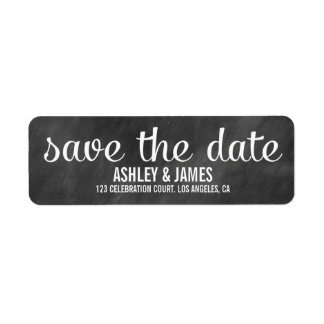 MODERN CHALKBOARD SAVE THE DATE LABELS