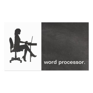 Modern Chalkboard Silhouette legal word processor Business Card Template