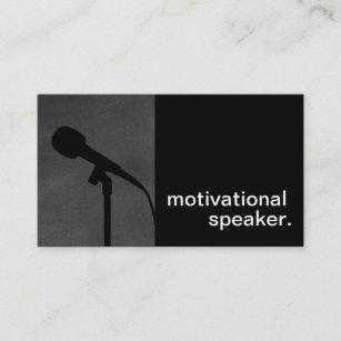 Motivational speaker business cards zazzle uk modern chalkboard silhouette motivational speaker business card colourmoves