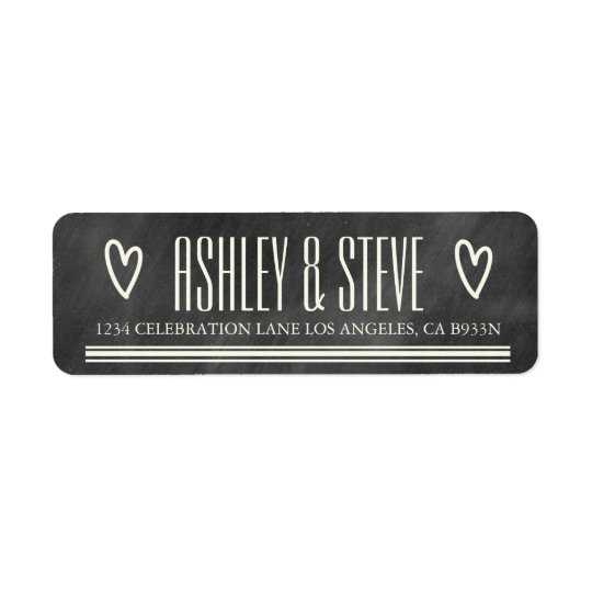 MODERN CHALKBOARD WEDDING ADDRESS LABELS