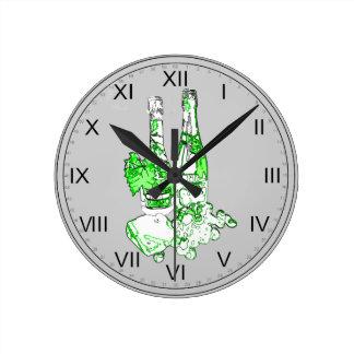 Modern Champagne Art Round Clock