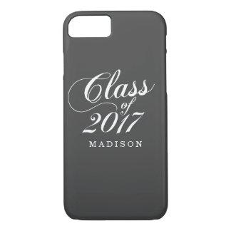 Modern Charcoal | Graduation iPhone 8/7 Case